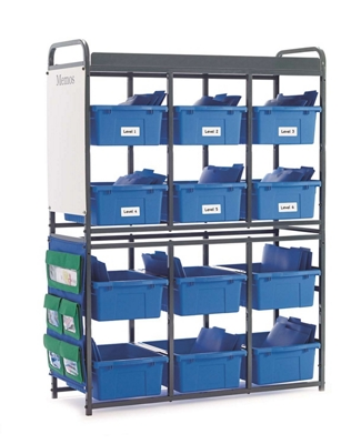 Classroom Storage Organizer with 12 Tubs