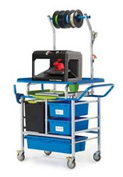 3D Printer Cart with Storage and Tech Tub