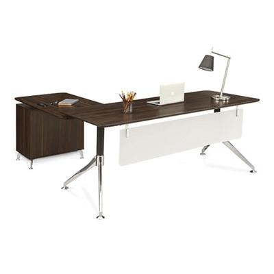 "Astoria Two-Tier L-Desk with Reversible Return - 71""W"