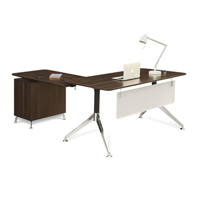 "Astoria Two-Tier L-Desk with Reversible Return - 60""W"