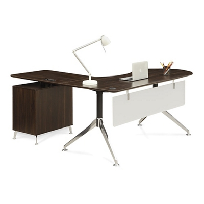 "Astoria  Executive Curved L-Desk with Right Return - 71""W"