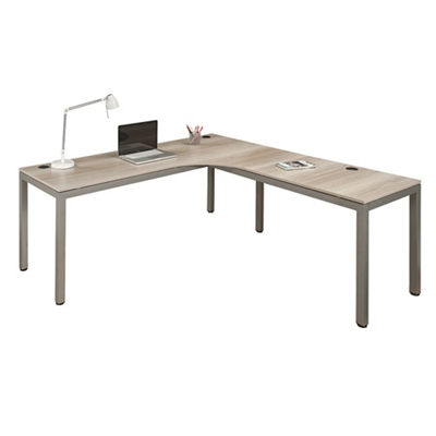"At Work Corner Desk with User Curve - 72""W x 72""D"