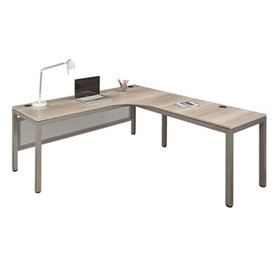 "At Work Right Corner Desk with User Curve- 72""W"