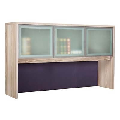 "At Work Hutch with Glass Doors - 60""W"