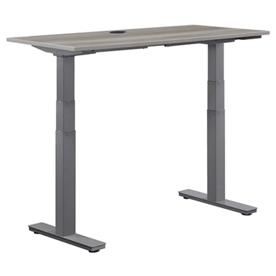 "At Work Adjustable Height Desk - 48""W x 24""D"