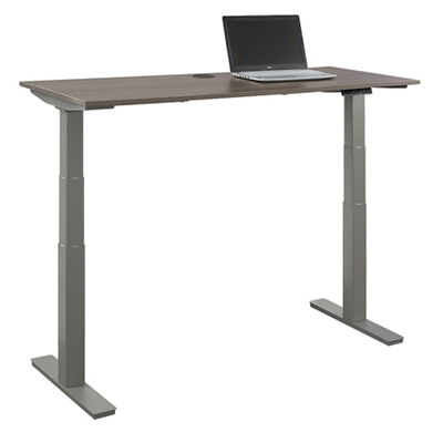 "At Work Adjustable Height Desk - 60""W x 24""D"