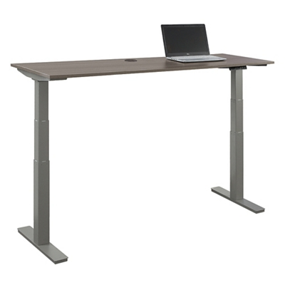 """At Work Adjustable Height Desk -72""""W x 24""""D"""