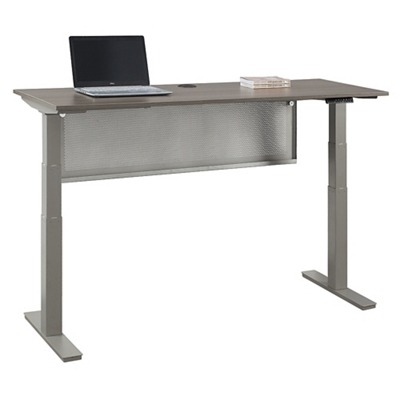 "At Work Desk with Modesty Panel -72""W"