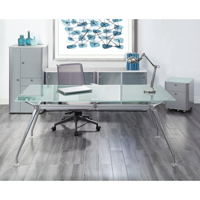 Brilliant Glass Desk Suite