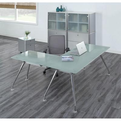 Brilliant Executive Glass L Desk Suite