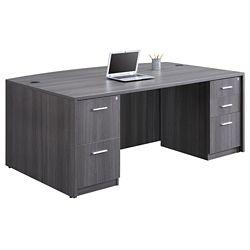 Gray back desk view