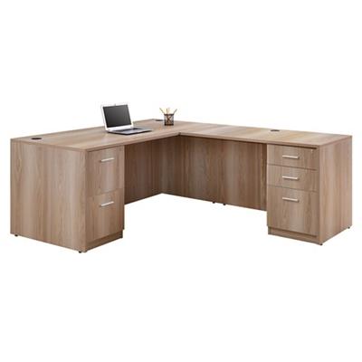 "Formation Compact Reversible L-Desk - 66""W"