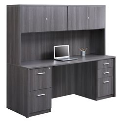 At Work Credenza and Hutch Set