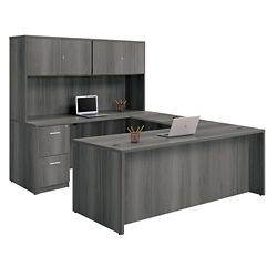 "Formation U-Desk with Fully Reversible Bridge and Hutch - 71""W"