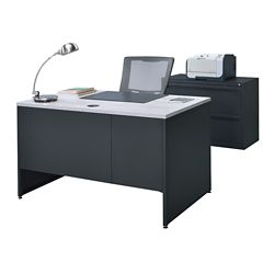 Carbon Desk and Lateral File Set