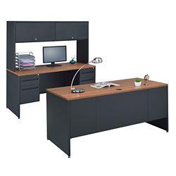 Credenza, hutch and desk