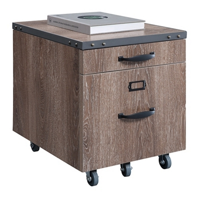 "Rivet 16""W Two Drawer Mobile File Pedestal"