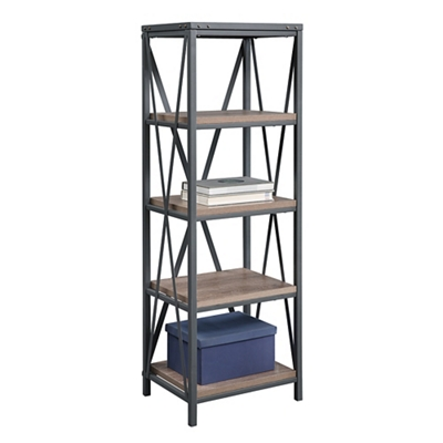 "Rivet 61""H Four Shelf Bookcase"