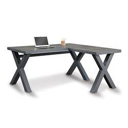 "Rivet Reversible Compact L-Desk - 60""W x 60""D"