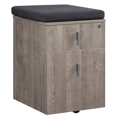 "Portland 16""W Two Drawer Mobile File Pedestal with Cushion"