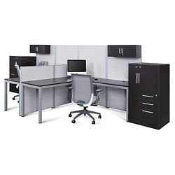 At Work Dual Office Set with Wardrobes