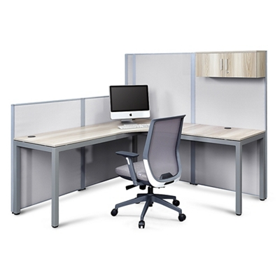 At Work Corner Desk with Panels Set