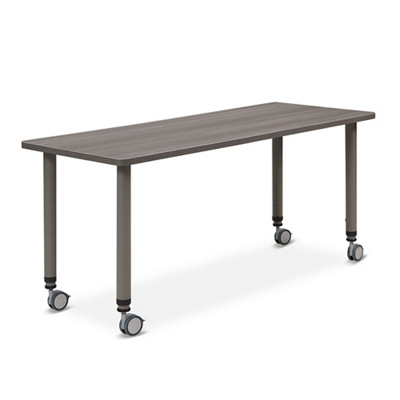 "Valuemax Mobile Adjustable-Height Table - 45""W x 24""D"