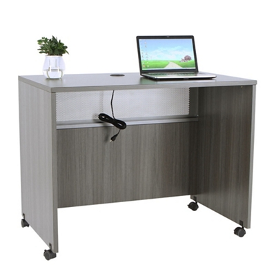 "At Work Mobile Standing Height Desk- 48""W x 30""D"