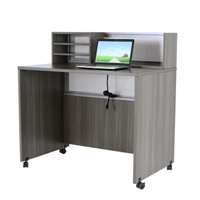 "At Work Mobile Standing Height Reception Station - 48""W x 30""D"