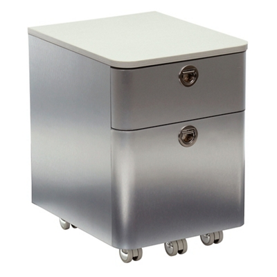 "Brilliant 17""H Two Drawer Laminate Top Mobile Pedestal"