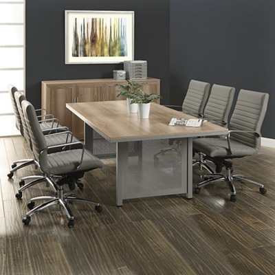 At Work Conference Table and Eight Harper Chair Set - 8 ft