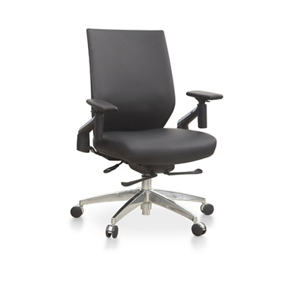 Swing Swing-Back Arm Faux Leather Task Chair
