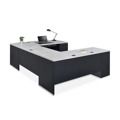Carbon Bowfront U-Desk