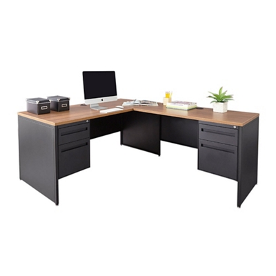 "Carbon Steel L-Desk 66""W x 78""D"