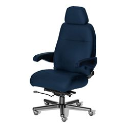 24/7 Big and Tall Chair with Headrest in Fabric