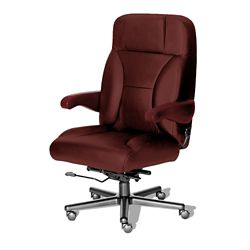 24/7 Big and Tall Chair with Leather Front and Vinyl Sides