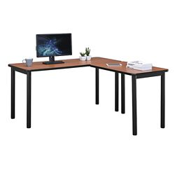 "Stahl Compact Steel L-Desk with Laminate Top - 60""W x 60""D"