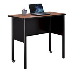 "Stahl Mobile Steel Standing Height Desk with Laminate Top - 48""W x 24""D"