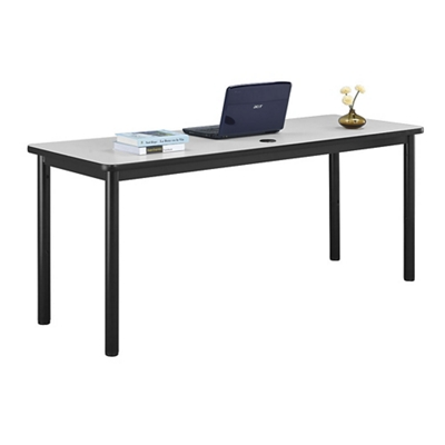 "Stahl Steel Table Desk with Laminate Top - 72""W x 24""D"