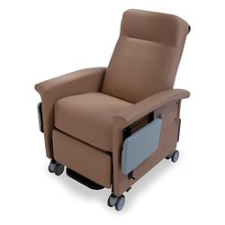 Transport Recliner with Trendelenburg and Side Table
