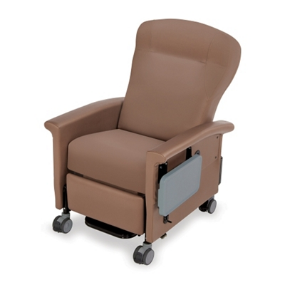 Wing-Back Transport Recliner with Side Table