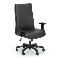 Everest 24-Hour Big & Tall High-Back Leather Chair