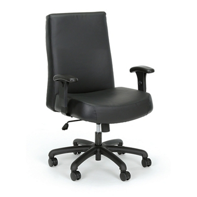 Everest 24-Hour Big & Tall Mid-Back Leather Chair