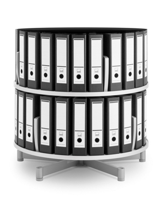 Binder Carousel with 2 Tiers