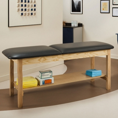 "Vinyl Treatment Table with Shelf 72""W x 27""D"