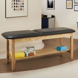 "Vinyl Treatment Table with Shelf 72""W x 30""D"