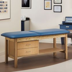"""Vinyl Treatment Table with Drawers 27""""D"""