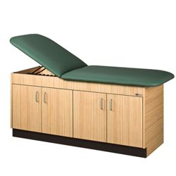 """Vinyl Treatment Table with Two Cabinets - 72""""W x 27""""D"""