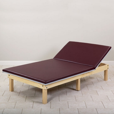 "Physical Therapy Mat Platform with Adjustable Backrest - 84"" x 60"""