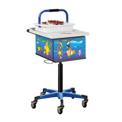 Pediatric Phlebotomy Cart with Lockable Cabinet